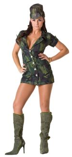 31.95 MILITARY GIRL ADULT COSTUME  sc 1 st  Halloween Costumes & Navy Air Force Army costumes - Professional Costumes - Adult Costumes