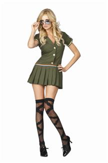 FIRST LINE CUTIE PLUS SIZE ADULT COSTUME