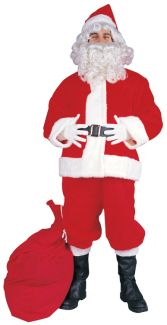 SANTA SUIT - POLYESTER ADULT COSTUME, PLUS SIZE