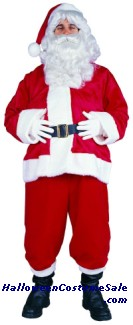 SANTA SUIT - VELBOA ADULT COSTUME, PLUS SIZE