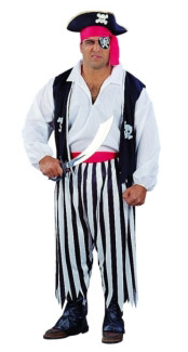 PIRATE MAN ADULT COSTUME, PLUS SIZE