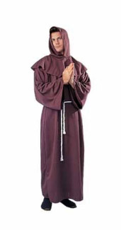 SUPER DELUXE MONK ADULT ROBE, PLUS SIZE