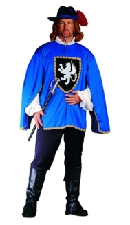 MUSKETEER ADULT COSTUME, PLUS SIZE