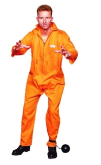 ESCAPE CONVICT ADULT COSTUME, PLUS SIZE