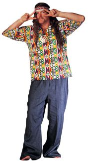 60S HIPPIE DAISHIKI ADULT COSTUME - PLUS SIZE