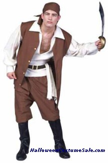 CARIBBEAN PIRATE ADULT COSTUME - PLUS SIZE
