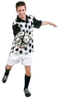 SOCCER PLAYER ADULT COSTUME - PLUS SIZE