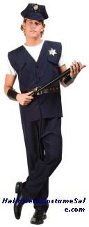 POLICEMAN LAW ENFORCER ADULT COSTUME - PLUS SIZE