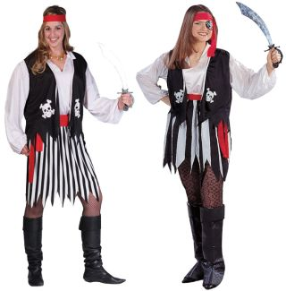 PIRATE LADY ADULT COSTUME, PLUS SIZE