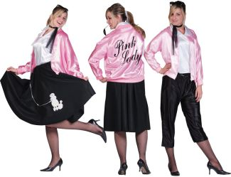 PINK LADY ADULT JACKET, PLUS SIZE