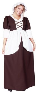 COLONIAL PEASANT ADULT COSTUME - PLUS SIZE