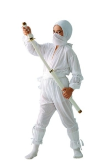 WHITE NINJA CHILD COSTUME
