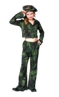 SOLDIER GIRL CHILD COSTUME