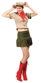 Sexy Girl Scout Adult Costume - Plus Size