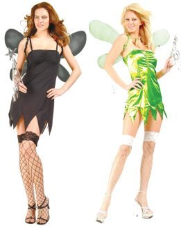 Green & Black Fairy - Reversible Costume