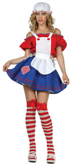 Sexy Rag Doll Adult Costume - Plus Size
