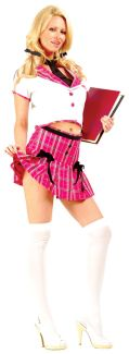 College Girl Adult Costume - Plus Size
