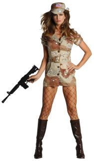 Storm Fox- Desert Camouflage Adult Costume - Plus Size