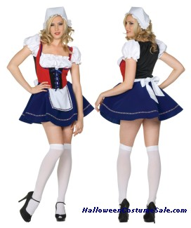 SWISS MISS ADULT COSTUME (PLUS SIZE) - VERY HOT!