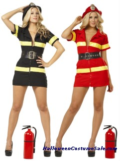 Fire Fighter Adult Costume - Plus Size