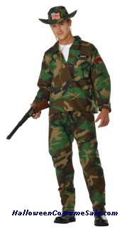 CAMOUFLAGE COMMANDO ADULT COSTUME - PLUS SIZE