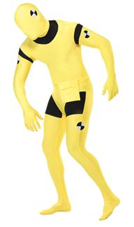 CRASH DUMMY SKIN SUIT ADULT COSTUME