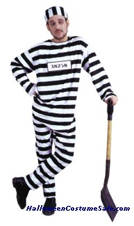 CONVICT MAN ADULT COSTUME - PLUS SIZE
