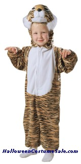 Tiger Striped Plush Child Costume