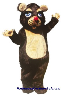 BARNABY BEAR MASCOT ADULT COSTUME - AS PIC.