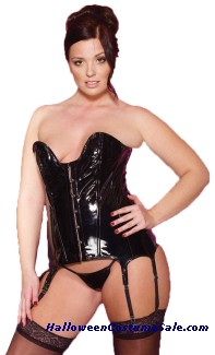 VINYL TIFFANY CORSET WITH G STRING PLUS SIZE