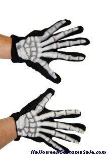 GLOVES, SKELETON GLOW-IN-DARK
