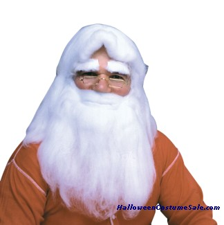 SANTAS WIG - BEARD & EYEBROWS SET