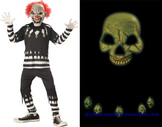 CREEPY CLOWN CHILD COSTUME