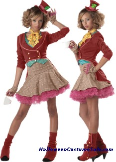 THE MAD HATTER JUNIOR TEEN COSTUME
