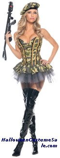 COMMANDO SEXY ADULT COSTUME