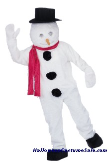 SNOWMAN MASCOT ADULT COMPLETE COSTUME