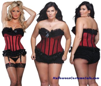 CORSET RED LEOPARD