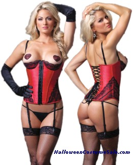 BUSTIER RED AND BLACK
