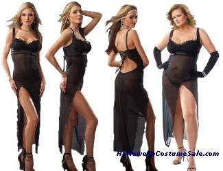 GOWN WITH G-STRING MESH - ADULT COSTUME