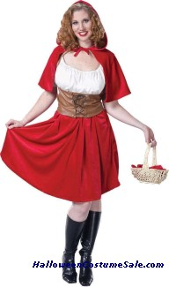 RED RIDING HOOD ADULT COSTUME - PLUS SIZE