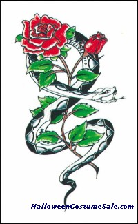 TATTOO, SNAKE W/ROSE