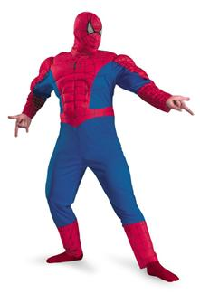 SPIDERMAN CLASSIC MUSCLE CHEST PLUS SIZE COSTUME