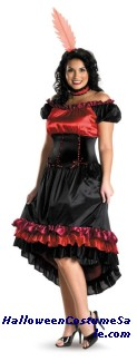 CAN CAN CUTIE PLUS SIZE COSTUME