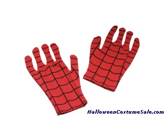 COMIC SPIDERMAN GLOVES - ADULT SIZE