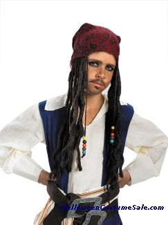 DISNEY JACK SPARROW HEADBAND W/ HAIR - CHILD SIZE
