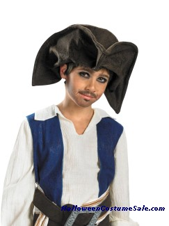 Disney Child Jack Sparrow Pirate Hat