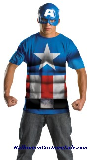 CAPTAIN AMER ALTERNATE NO SCARS PLUS SIZE COSTUME