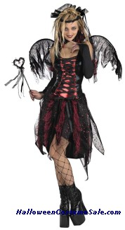 VAMP FAIRY COSTUME, GIRL