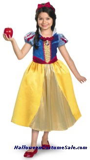SNOW WHITE LAME DELUXE CHILD COSTUME