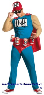 SIMPSONS DUFFMAN MUSCLE PLUS SIZE COSTUME